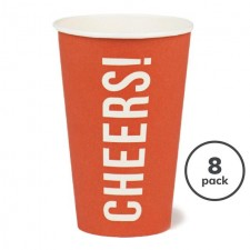 Recyclable Cheers Cup Red 8 per pack