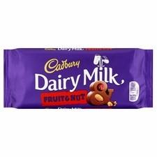 Retail Pack Cadbury Fruit and Nut 18 x 110g