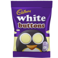 Retail Pack Cadbury White Chocolate Buttons 60 x 14.4g Bags