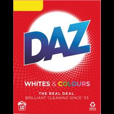 Retail Pack Daz Washing Powder Whites and Colours 10 Washes x 6 Boxes