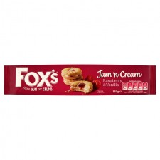 Retail Pack Foxs Jam n Cream Biscuits 12 x 150g