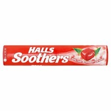 Retail Pack Halls Soothers Strawberry 20x45g
