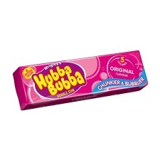 Retail Pack Hubba Bubba Original Flavour Bubble Gum 5 Piece 20 Packs
