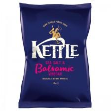 Retail Pack Kettle Chips Sea Salt and Balsamic Vinegar 18 x 40g Box