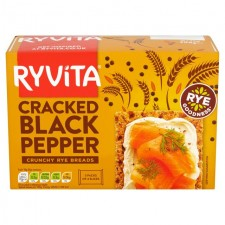 Ryvita Crispbread Cracked Black Pepper 200g.