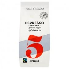 Sainsbury Italian Espresso Roasted and Ground Coffee 227g