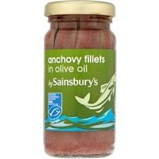 Sainsburys Anchovy Fillets in Olive Oil 100g