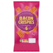 Sainsburys Bacon Crispies 6x20g