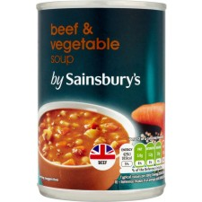 Sainsburys Beef and Vegetable Soup 400g