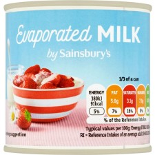 Sainsburys Evaporated Milk 170g
