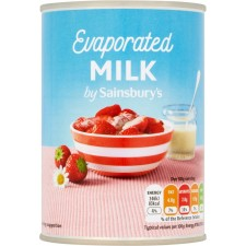 Sainsburys Evaporated Milk 410g