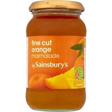 Sainsburys Fine Cut Orange Marmalade 454g