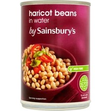 Sainsburys Haricot Beans In Water 410g