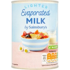 Sainsburys Light Evaporated Milk 410g