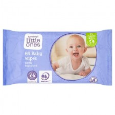 Sainsburys Little Ones Fragranced 64 Baby Wipes
