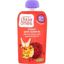 Sainsburys Little Ones Organic Beef Casserole 6mth+ 120g