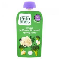 Sainsburys Little Ones Organic Cauliflower and Broccoli Cheesy Pasta 6 Months 120g