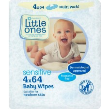 Sainsburys Little Ones Sensitive Fragrance Free Baby Wipes 64 x 4