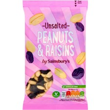 Sainsburys Peanuts and Raisins Unsalted 200g