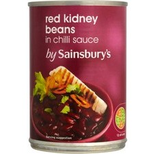 Sainsburys Red Kidney Beans in Chilli Sauce 400g