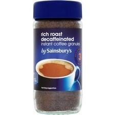 Sainsburys Rich Roast Decaffeinated Coffee Granules 100g