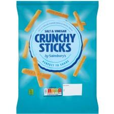 Sainsburys Salt and Vinegar Crunchy Sticks 140g