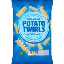 Sainsburys Salt and Vinegar Twirls 125g