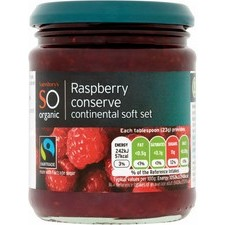 Sainsburys So Organic Raspberry Conserve 340g