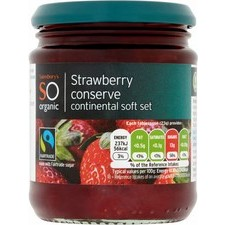 Sainsburys So Organic Strawberry Conserve 340g