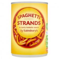 Sainsburys Spaghetti in Tomato Sauce 410g