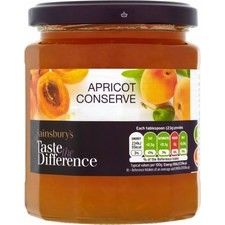 Sainsburys Taste the Difference Apricot Conserve 340g