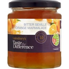 Sainsburys Taste the Difference Bitter Seville Orange Marmalade 340g