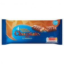 Sainsburys Toffee Biscuit Chocolate Bars 4 x 42g