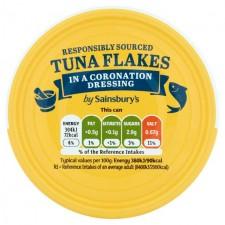 Sainsburys Tuna Flakes in a Coronation Dressing 80g