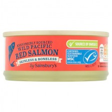 Sainsburys Wild Pacific Red Salmon 105g
