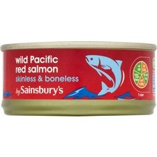 Sainsburys Wild Pacific Red Salmon Skinless and Boneless 105g