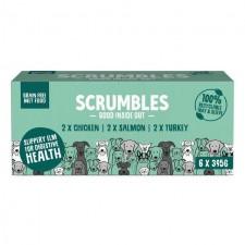 Scrumbles Grain Free Wet Dog Food Pate Multipack 6 x 395g