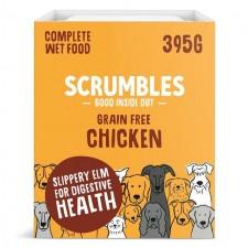 Scrumbles Wet Dog Food Pate Grain Free Chicken 395g
