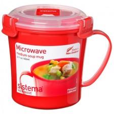 Sistema Plastic Soup Mug 656ml Assorted Colours