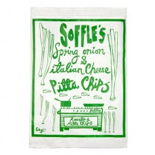 Soffles Pitta Chips Spring Onion and Italian Cheese 60g