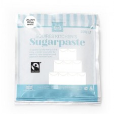 Squires Kitchen White Fairtrade Sugarpaste Ready to Roll Icing 250g