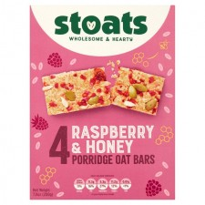 Stoats Raspberry And Honey Porridge Bar Multipacks 4X50g