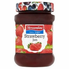 Streamline Reduced Sugar Strawberry Jam 340g