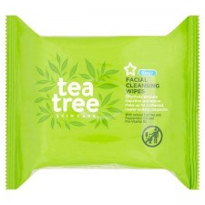 Superdrug Tea Tree and Peppermint Facial Cleaninsg Wipes 25
