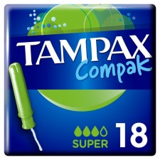 Tampax Compak with Applicator Super 18