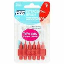 TePe Red Interdental Brush 0.5mm 6 Pack