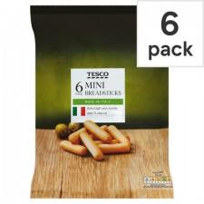Tesco 6 Pack Mini Breadsticks 120G