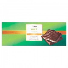 Tesco Dark Chocolate Mint Thins 200g