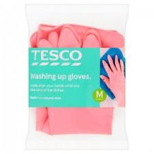 Tesco Dishwashing Rubber Gloves Medium