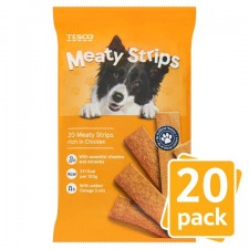 Tesco Meaty Strips with Chicken 20 Pack